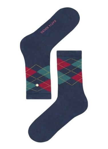 Katia & Bony Argyle Kadın Soket Çorap  Lacivert